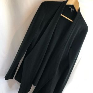Eileen Fisher cardigan Black Open Front L A23